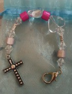 Cross Heart Pink Scissorfob