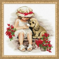 Riolis Art 1333 Girl with Puppy